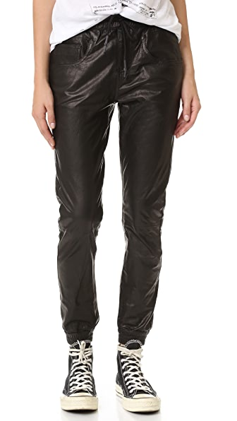 R13 Leather Boy Skinny Jogger Pants