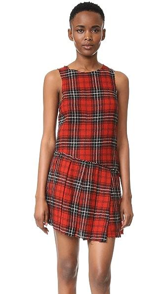 R13 Asymmetrical Kilt Dress - Red Plaid #12