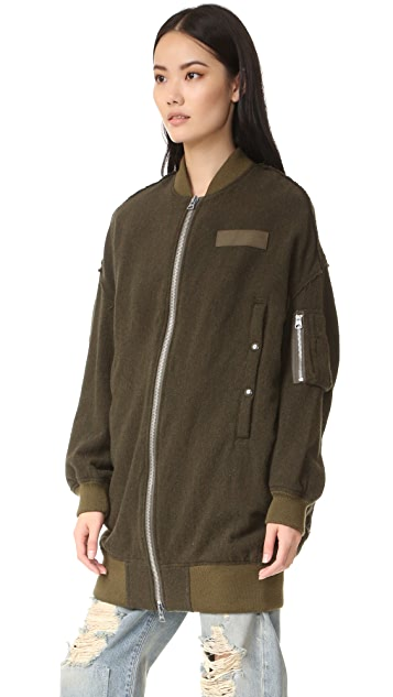 R13 X Oversized Flight Jacket