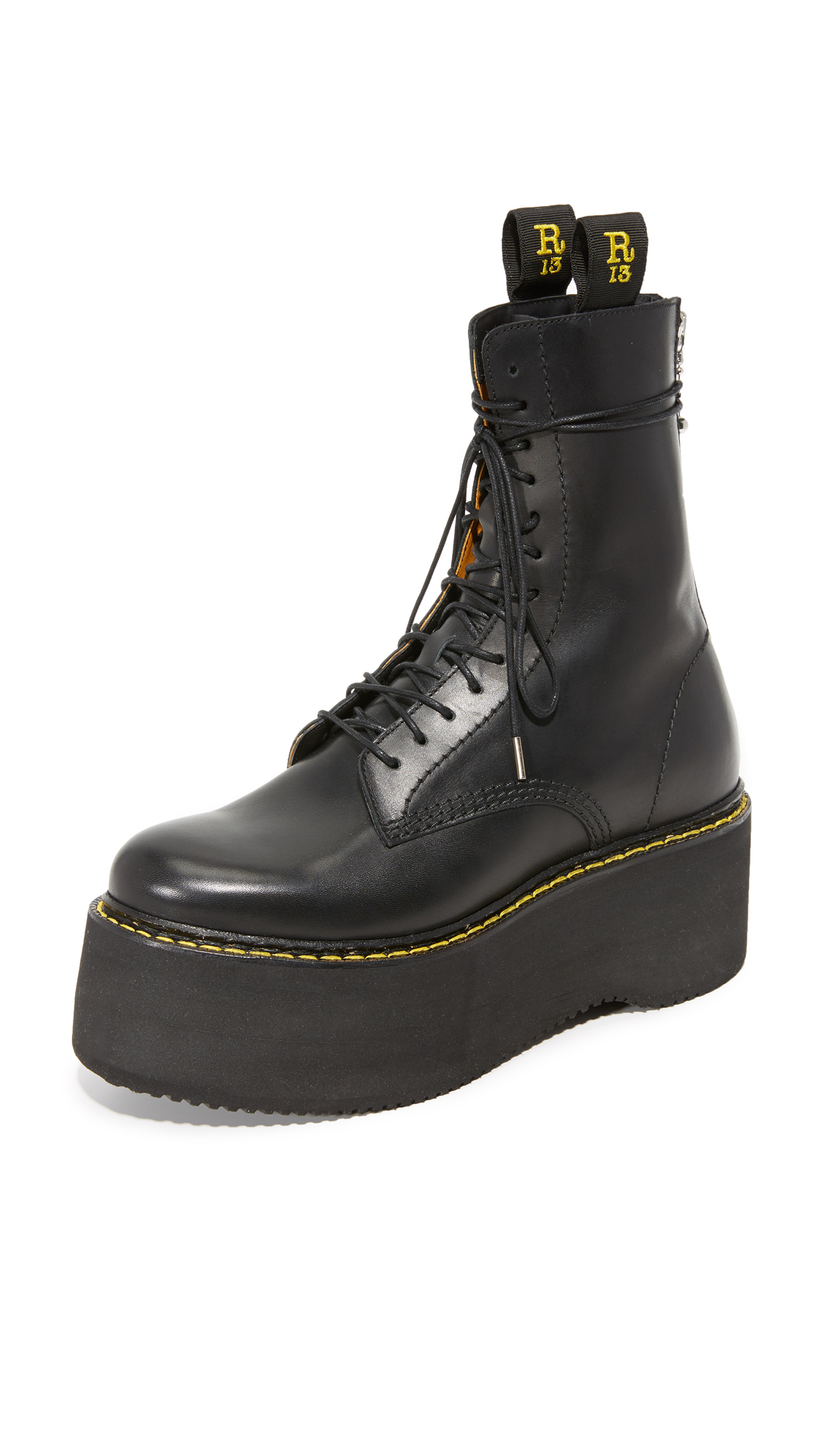 r13 female r13 combat stack boots black