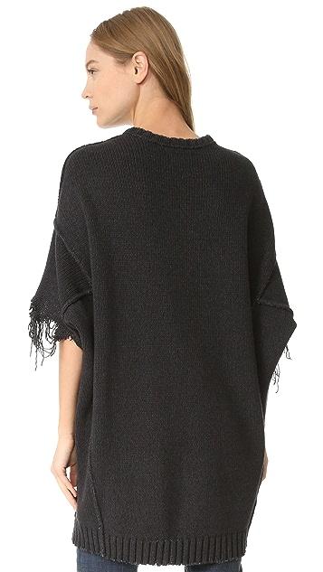 R13 Shredded Sleeve Sweater