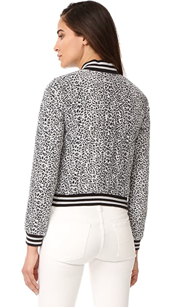 R13 Leopard Shrunken Roadie Jacket