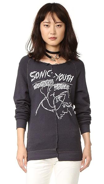 R13 Split Seam Sonic Youth Sweatshirt