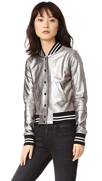 R13 Shrunken Metallic Jacket