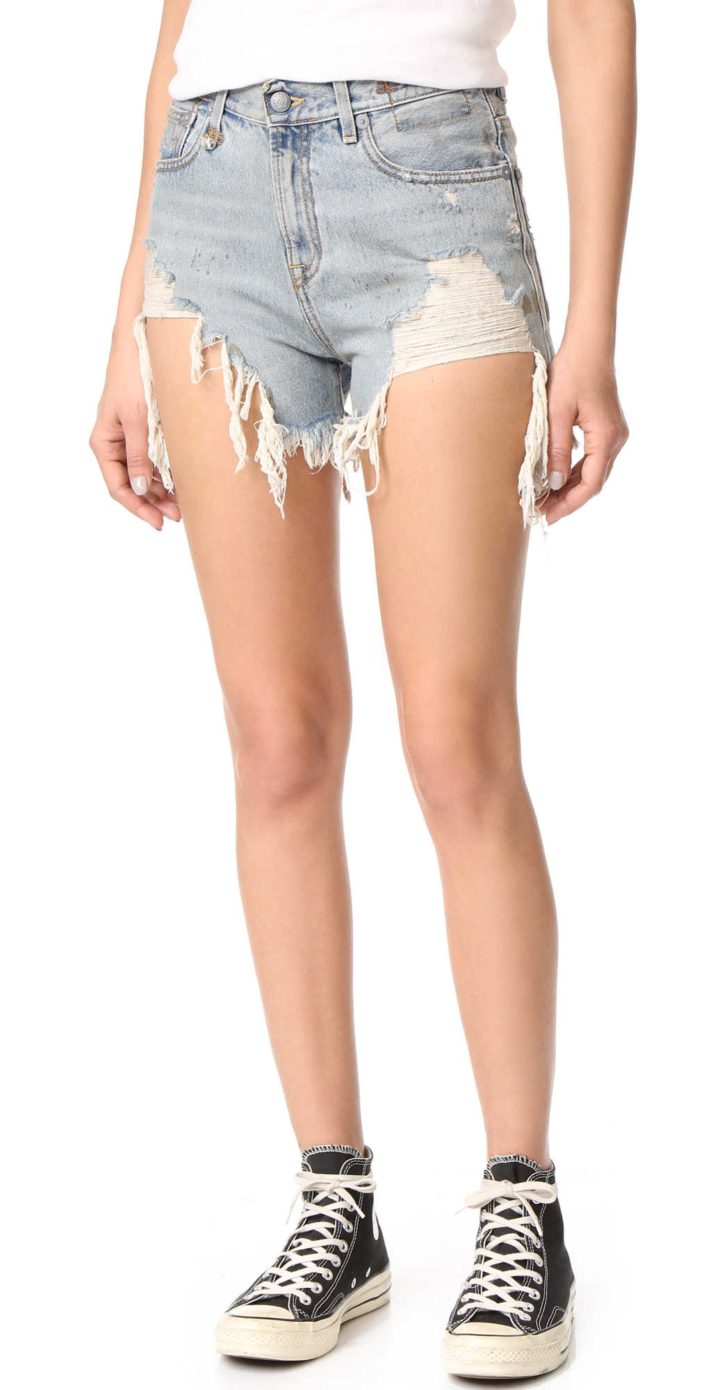 Shredded Slouch Shorts R13