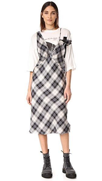 R13 Overlay Dress with Boyfriend Tee