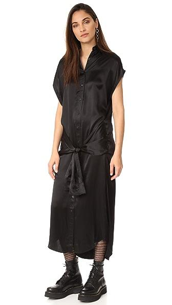 R13 Long Wrap Dress