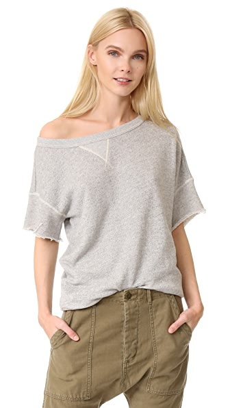 R13 Off Shoulder Sweatshirt