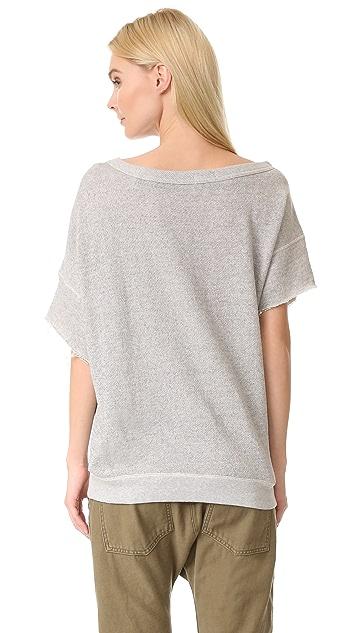 R13 Off Shoulder Sweatshirt