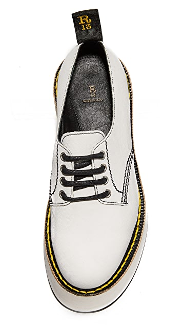 R13 X Stack Doodle Oxford Shoes