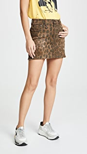 R13 High Rise Miniskirt