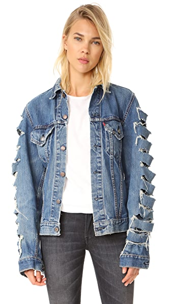 R13 Refurbished Trucker Jacket
