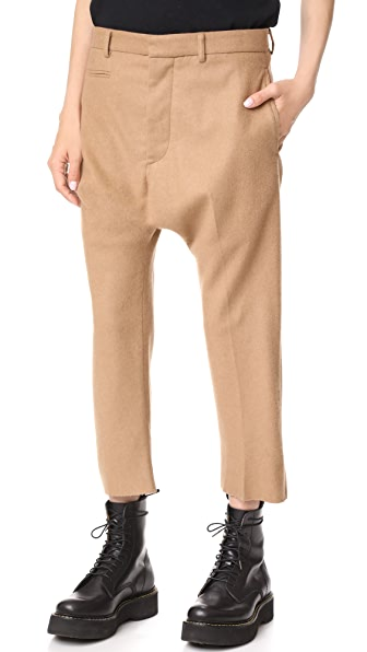 R13 Tailored Drop Trousers - Camel