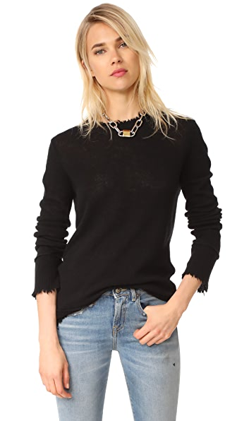 R13 Distressed Edge Cashmere Sweater at Shopbop