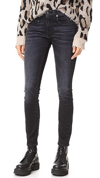 R13 Allison Skinny Jeans In Dark Moon