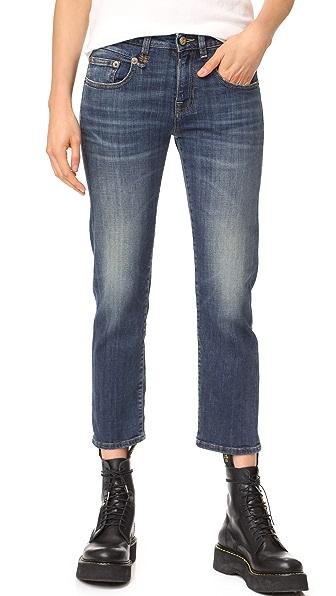 R13 Boy Straight Jeans - Dark Vintage Blue