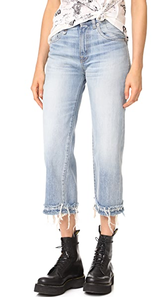 R13 Camille Jeans - Mason Blue Destroyed