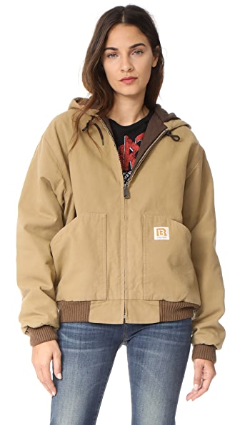 R13 Duck Jacket - Tan Olive