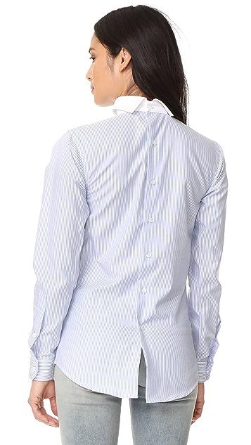 R13 Backwards Button Down Shirt