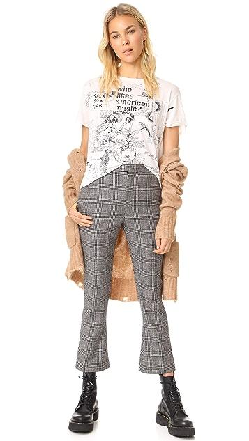 R13 Skinny Kick Flare Trouser