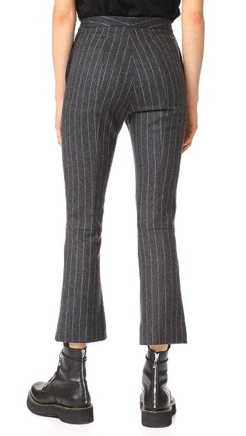 R13 Skinny Kick Flare Trousers