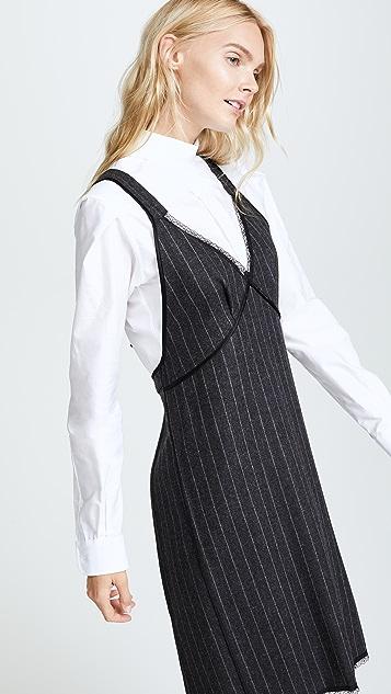R13 Apron Backwards Shirtdress