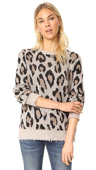 R13 Leopard Cashmere Sweater - Leopard