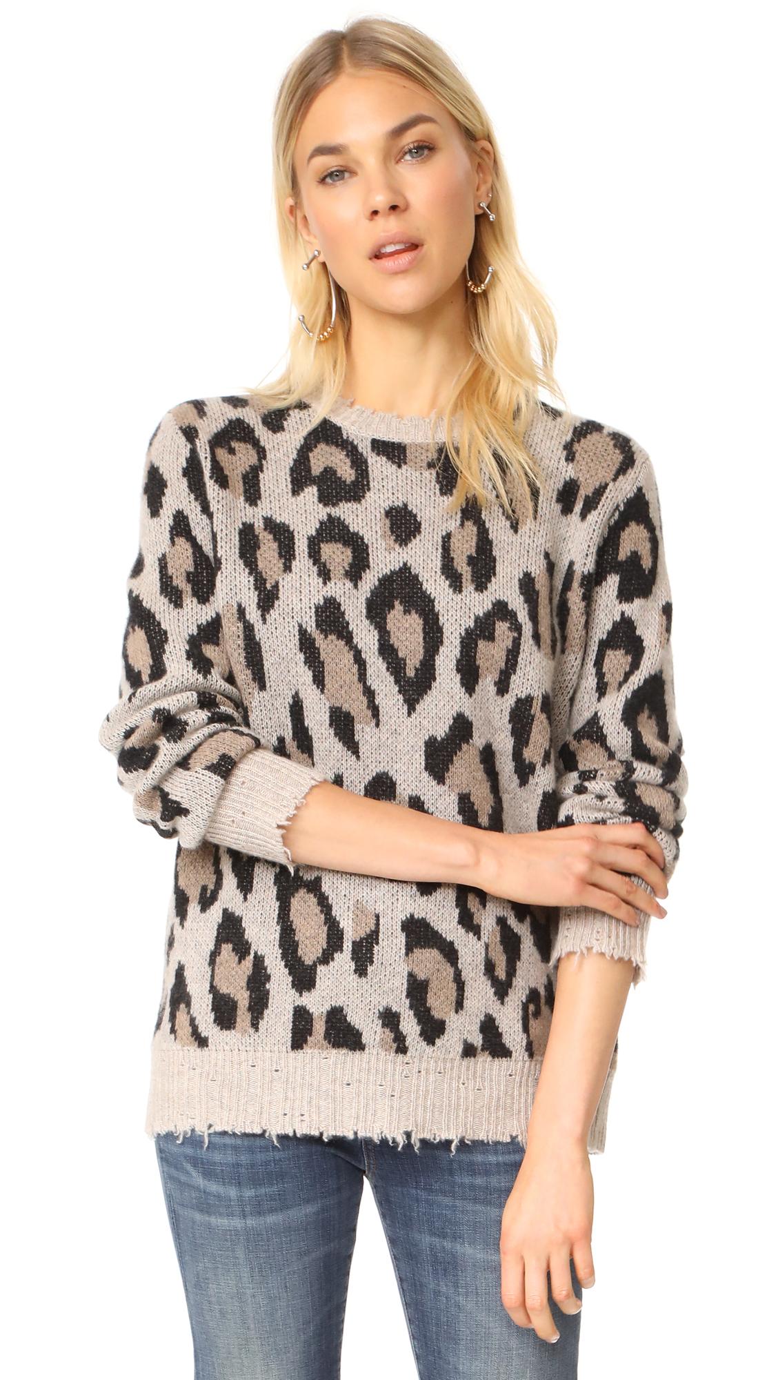 R13 Leopard Cashmere Sweater In Leopard