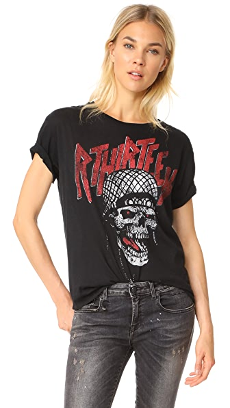 R13 Battle Punk Boy Tee - Aged Black