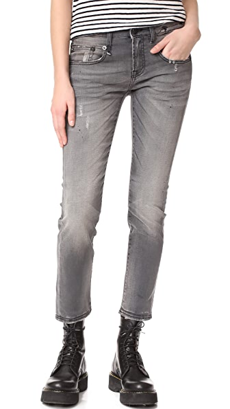 R13 Boy Skinny Jeans - Grey Orion