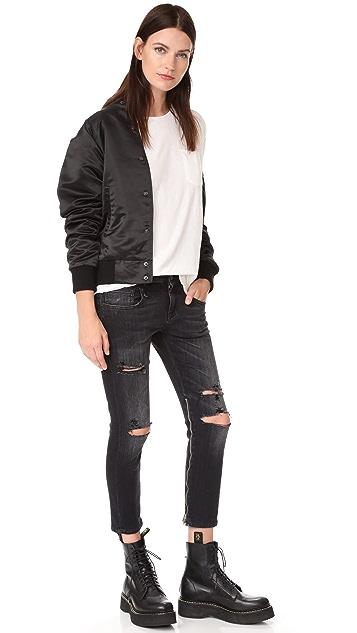R13 Boy Skinny Zip Leg Jeans