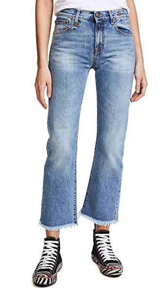 R13 Bowie High Rise Straight Jeans In Jasper