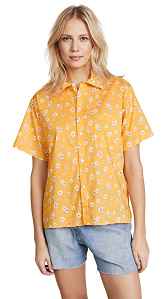 R13 Skater Shirt In Yellow Daisy
