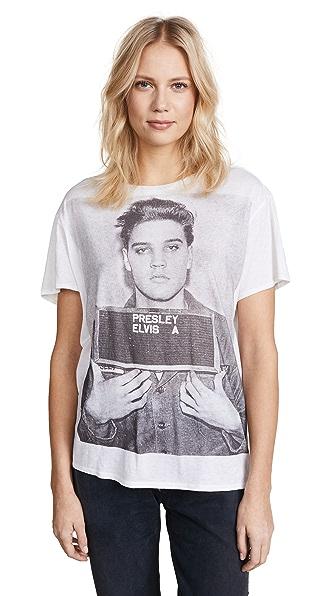 Oversized Elvis Mugshot T-Shirt, White