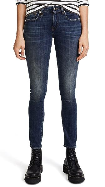 R13 Kate Skinny Jeans In Dark Vintage Blue