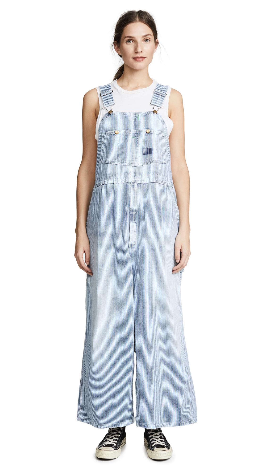 dec468c0d1 R13 Refurbished Railroad Stripe Overall Dress In Vintage Indigo ...