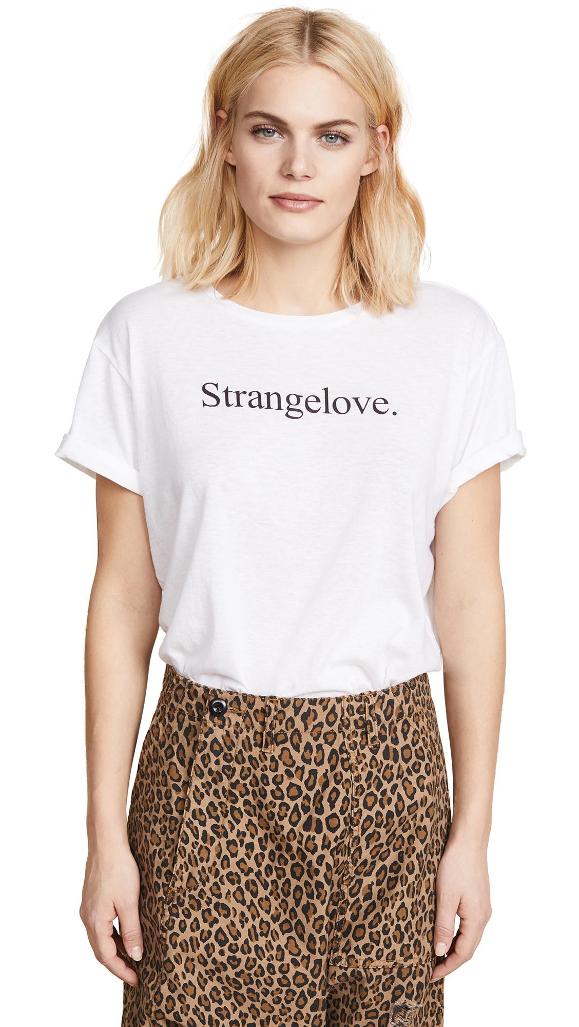 R13 Strangelove Boy Tee In White