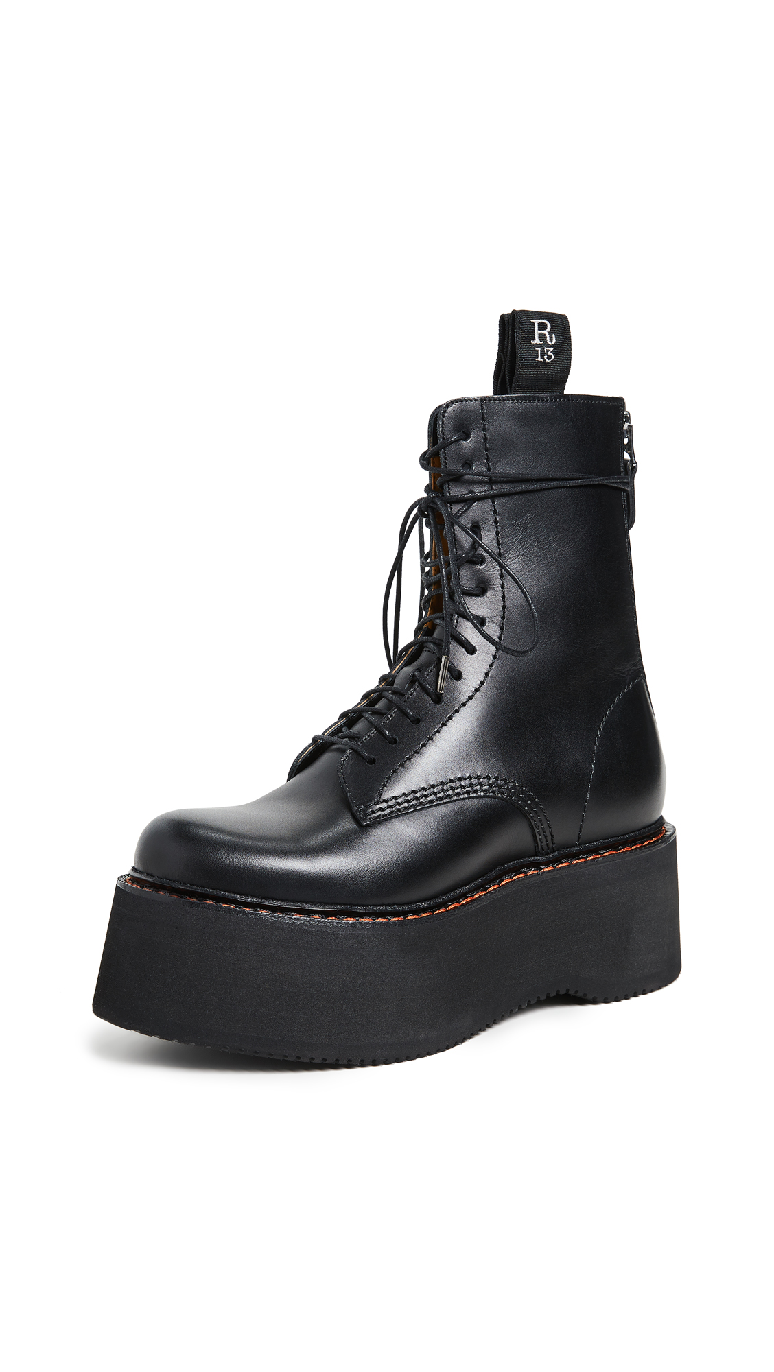 R13 Combat Stack Boots - Black