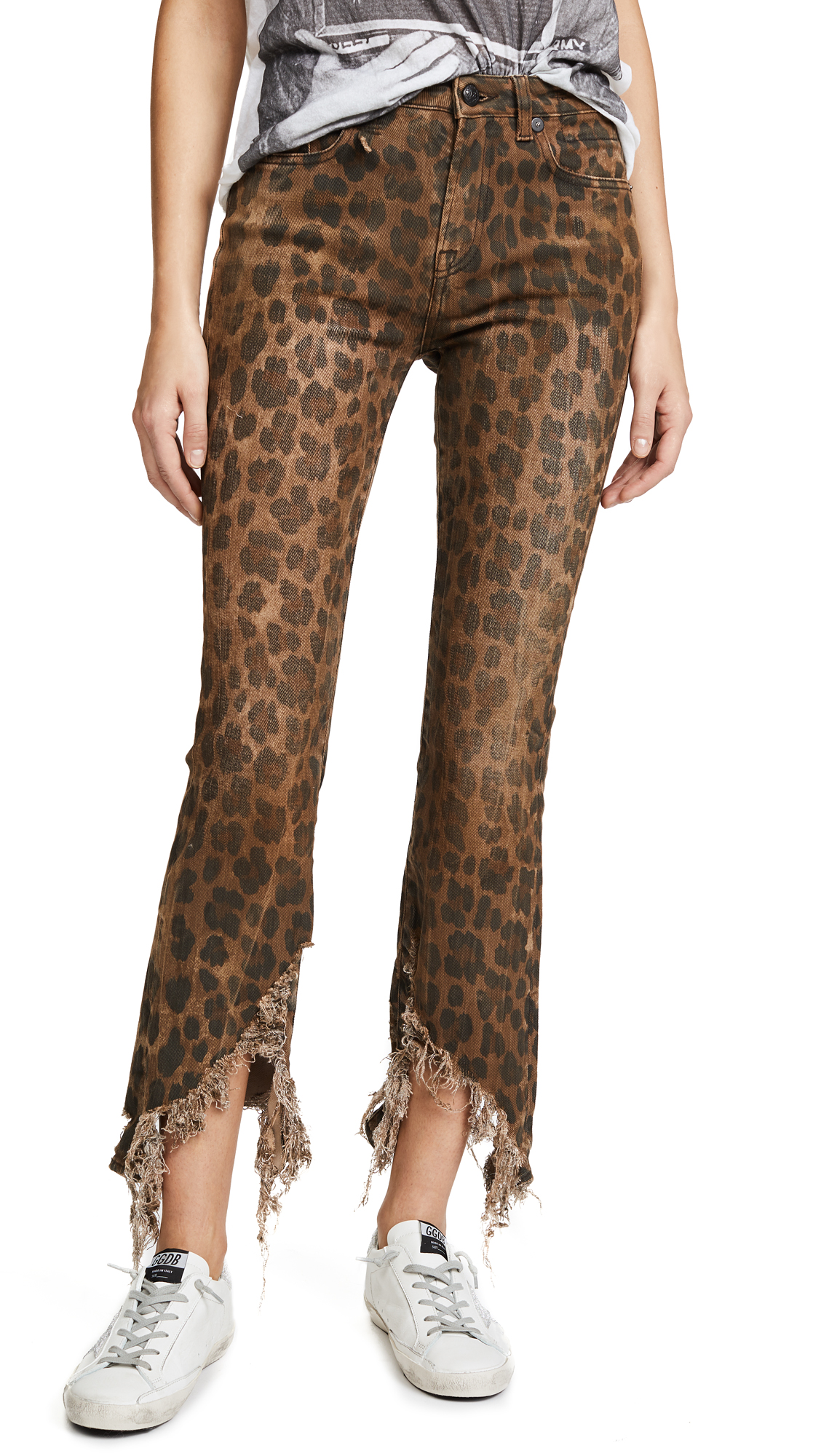 R13 Kick Jeans In Leopard