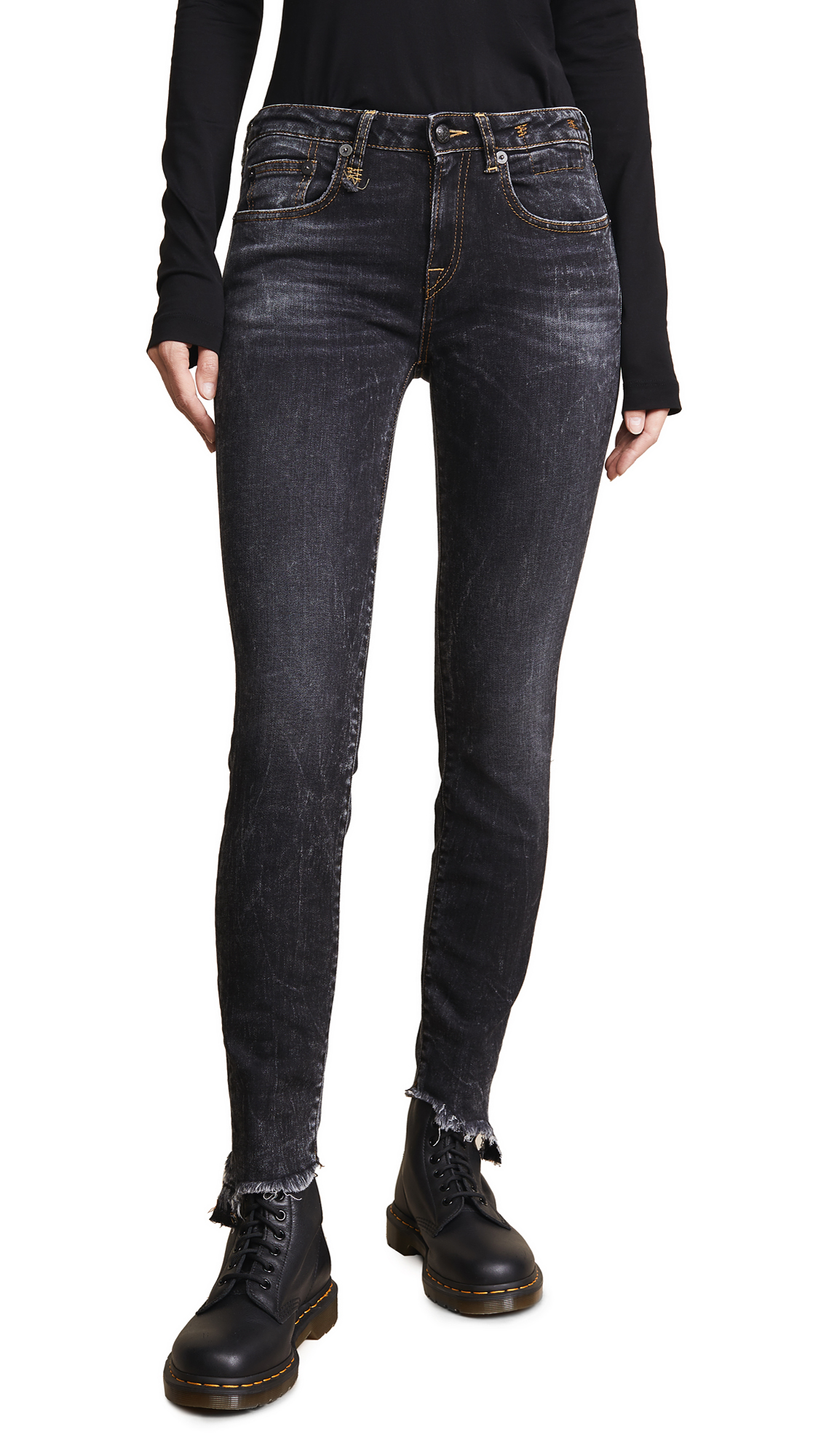 ALISON SKINNY JEANS WITH UNEVEN HEM
