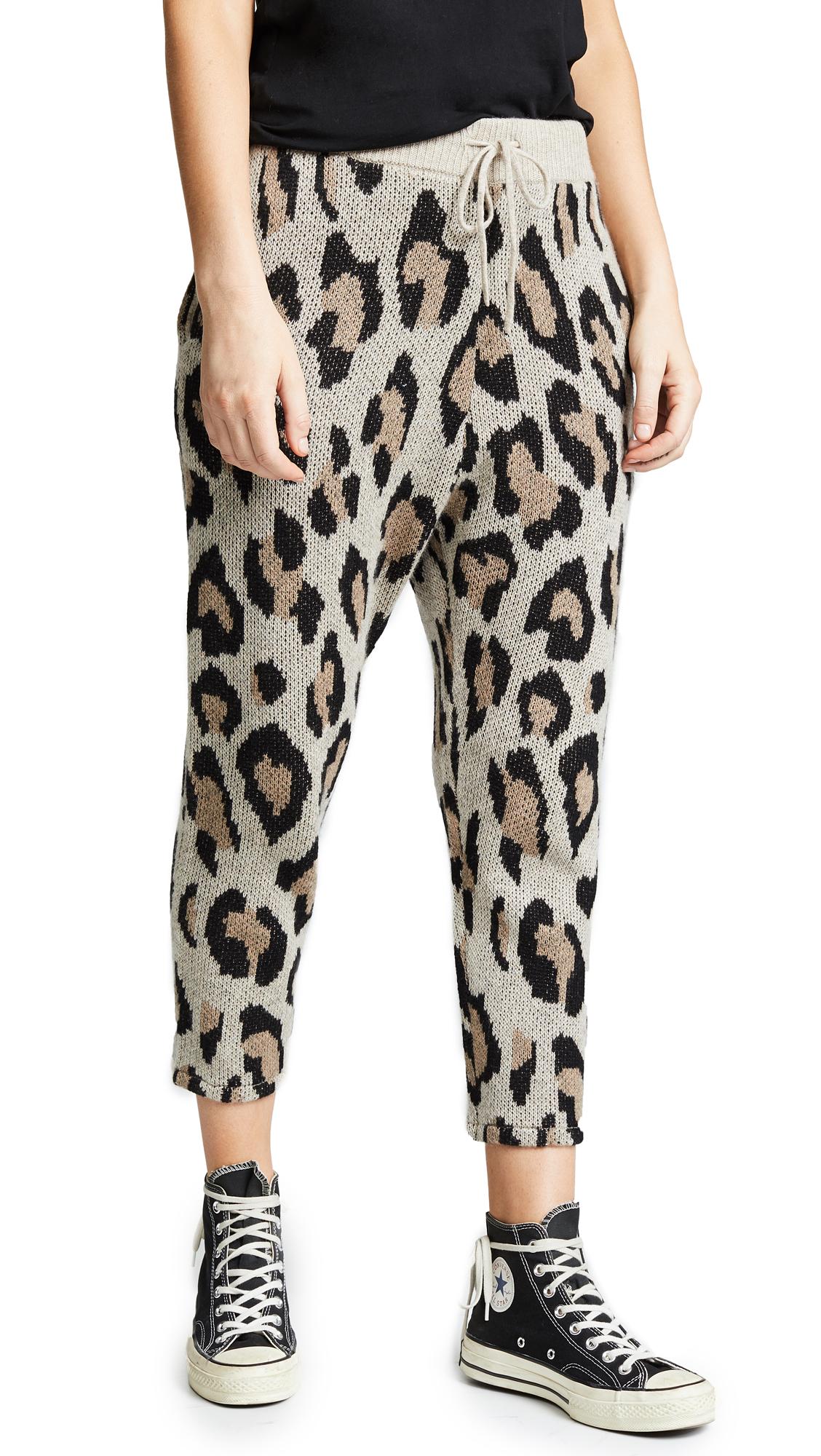 Leopard Jacquard Cashmere Pants