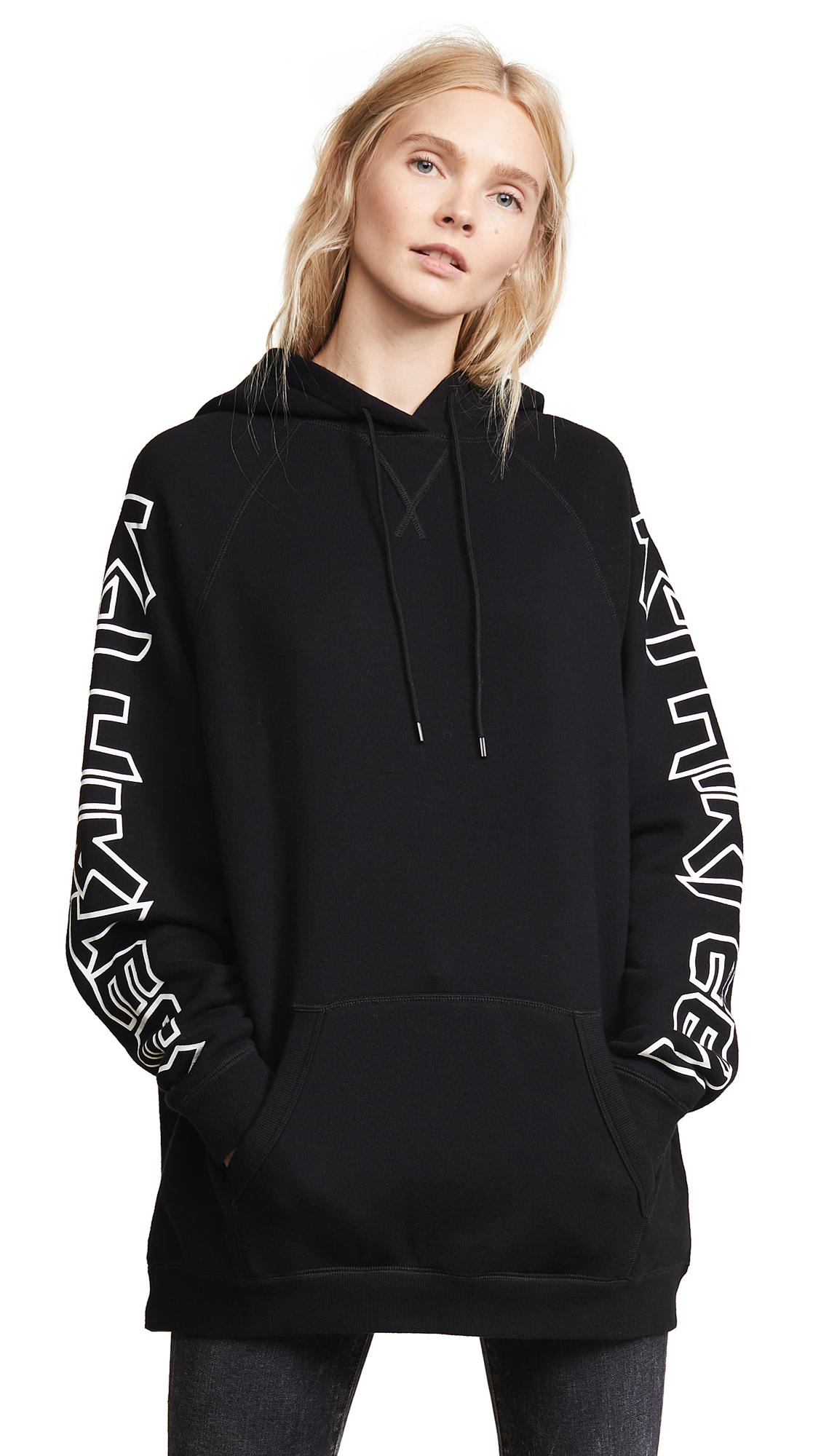 R13 R Thirteen Oversized Hoodie In Black