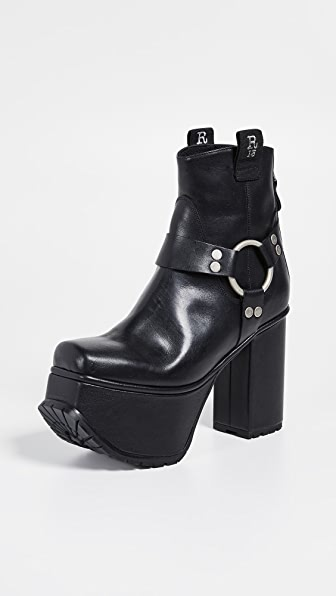 e3b41d83898 Ankle Harness Platform Boots in Black