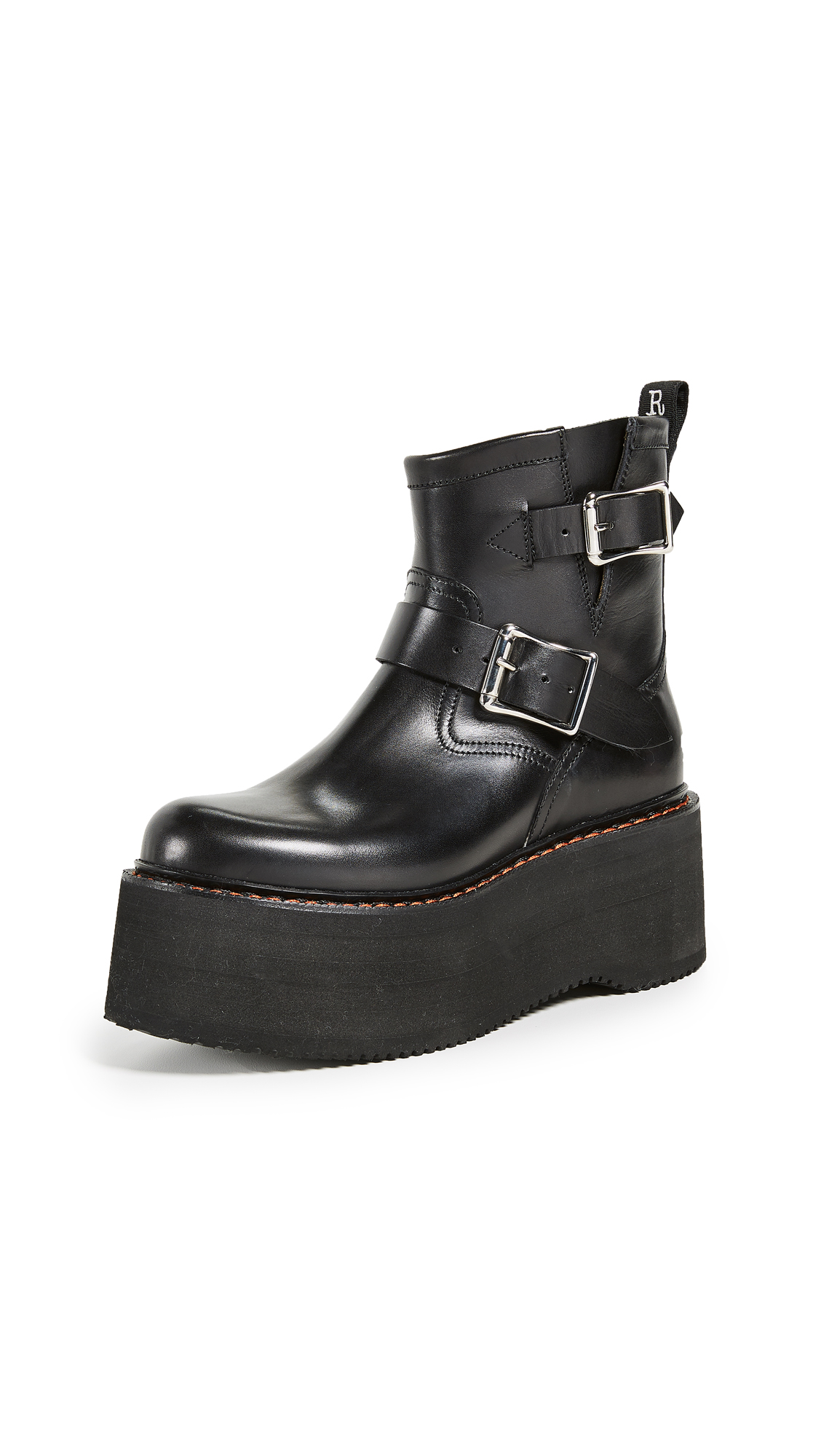 R13 Double Stack Engineer Boots - Black