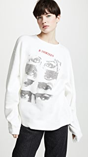 R13 13 Eyes Crew Neck Sweatshirt