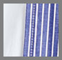White/Light Blue Stripe