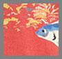 Красная сетка с леопардовым принтом