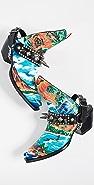 R13 夏威夷风格印花牛仔踝靴