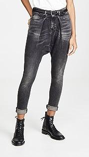 R13 金属哈伦牛仔裤