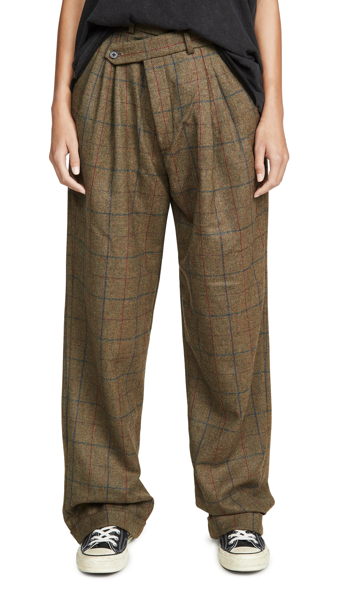 Buy R13 online - photo of R13 Triple Pleat Crossover Trousers
